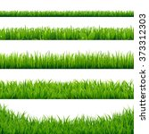 green grass big set  vector... | Shutterstock .eps vector #373312303