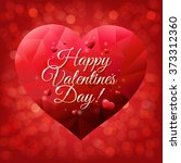 happy valentines day card with... | Shutterstock .eps vector #373312360