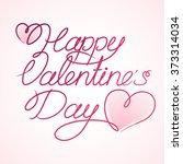 happy valentine's day and hearts | Shutterstock .eps vector #373314034