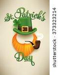 lovely vector saint patrick day ... | Shutterstock .eps vector #373323214