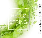 spring abstract background.... | Shutterstock .eps vector #373324306