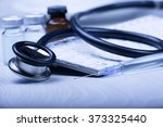 medical devices on the table at ... | Shutterstock . vector #373325440