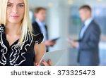 business woman standing in... | Shutterstock . vector #373325473