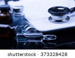 medical devices on the table at ... | Shutterstock . vector #373328428