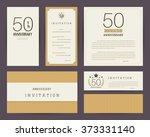 50th anniversary invitation... | Shutterstock .eps vector #373331140