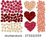 illustration of rose petals in... | Shutterstock .eps vector #373332559