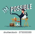 cool vector businessman flat... | Shutterstock .eps vector #373333330