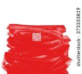 brush stroke and texture.... | Shutterstock .eps vector #373333819