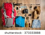 Top View Travel Things On The...