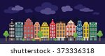 vintage colored houses  also... | Shutterstock .eps vector #373336318