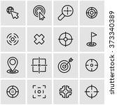 vector line target icon set. | Shutterstock .eps vector #373340389