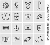 vector line soccer icon set. | Shutterstock .eps vector #373340950