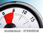 macro of a kitchen egg timer  ... | Shutterstock . vector #373345018