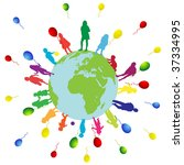 children world | Shutterstock .eps vector #37334995