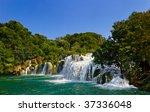 Waterfall Krka In Croatia  ...