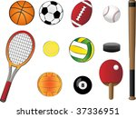 sports equipment vector... | Shutterstock .eps vector #37336951
