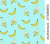 banana seamless background | Shutterstock .eps vector #373380853