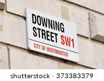 Sign On Downing Street In The...