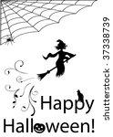 halloween illustration with... | Shutterstock . vector #37338739