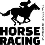 horse racing silhouette with