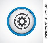 settings reload icon  on white...   Shutterstock . vector #373394080