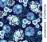 blue country floral   seamless... | Shutterstock .eps vector #373396726
