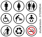 people icon set . toilet icons .... | Shutterstock .eps vector #373398544