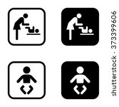 symbol for women and baby icon... | Shutterstock .eps vector #373399606