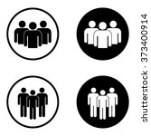 group of people icon set in... | Shutterstock .eps vector #373400914