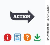 action sign icon. motivation... | Shutterstock . vector #373423384