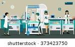 doctors and nurses have been... | Shutterstock .eps vector #373423750