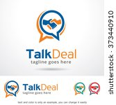 talk deal logo design template  | Shutterstock .eps vector #373440910