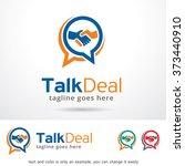 talk deal logo design template  | Shutterstock .eps vector #373440910