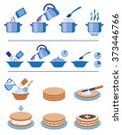 infographic for manuals on a... | Shutterstock .eps vector #373446766