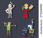 fantasy characters hero | Shutterstock .eps vector #373448980