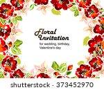 romantic invitation. wedding ... | Shutterstock . vector #373452970