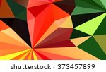 low polygon triangle pattern... | Shutterstock . vector #373457899