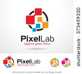 pixel lab logo design template