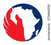 africa logo vector. | Shutterstock .eps vector #373466350