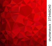 red polygonal mosaic background ... | Shutterstock .eps vector #373468240