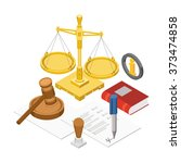 law isometric concept with 3d