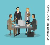 business people icon design  | Shutterstock .eps vector #373476193