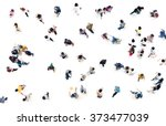 crowd of people blurred on... | Shutterstock . vector #373477039