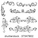 ornate elements for decor ... | Shutterstock .eps vector #37347802