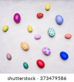 Colored Decorative Easter Eggs...