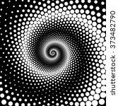 design spiral dots backdrop.... | Shutterstock .eps vector #373482790