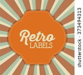 retro label design  | Shutterstock .eps vector #373494313