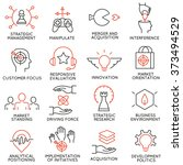 vector set of 16 icons related... | Shutterstock .eps vector #373494529
