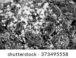 close up of dried roses bouquet ... | Shutterstock . vector #373495558