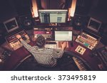 sound engineer working at... | Shutterstock . vector #373495819